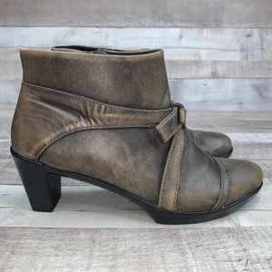 Naot Vistoso Leather Zip Heel Ankle Boots Size 39